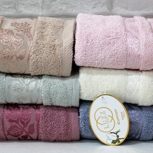 Набор полотенец для ванной 6 шт. Luzz CINAR хлопковая махра 50х90