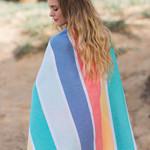 Полотенце пештемаль для пляжа, сауны, бани Begonville CLASSIC HALEY хлопок festive 100х180, фото, фотография