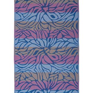 Полотенце пештемаль для пляжа, сауны, бани Begonville INDIGO & TERRA LAYLA хлопок indigo roses 95х180