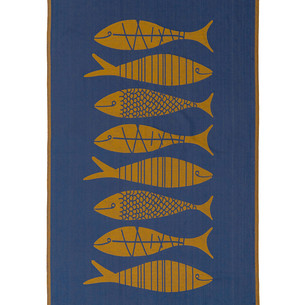 Полотенце пештемаль для пляжа, сауны, бани Begonville INDIGO & TERRA AQUATIC хлопок indigo gold 95х180