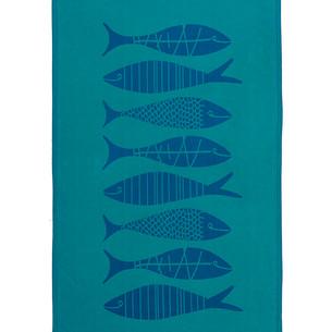 Полотенце пештемаль для пляжа, сауны, бани Begonville INDIGO & TERRA AQUATIC хлопок indigo green 95х180