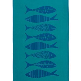 Полотенце пештемаль для пляжа, сауны, бани Begonville INDIGO & TERRA AQUATIC хлопок indigo green