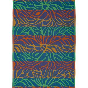Полотенце пештемаль для пляжа, сауны, бани Begonville INDIGO & TERRA LAYLA хлопок indigo orange 90х180