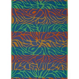 Полотенце пештемаль для пляжа, сауны, бани Begonville INDIGO & TERRA LAYLA хлопок indigo orange