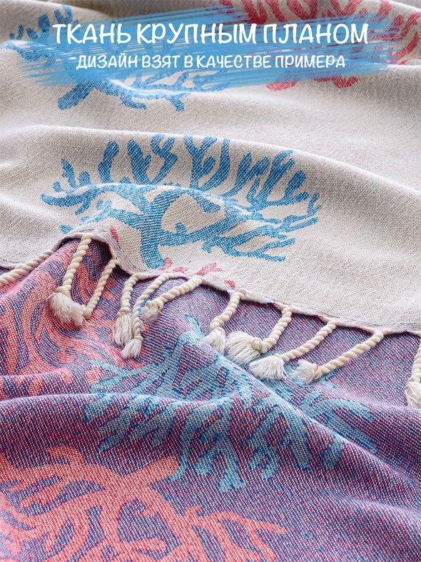 Полотенце пештемаль для пляжа, сауны, бани Begonville DREAMSCAPE ORIGIN хлопок orange 90х175, фото, фотография