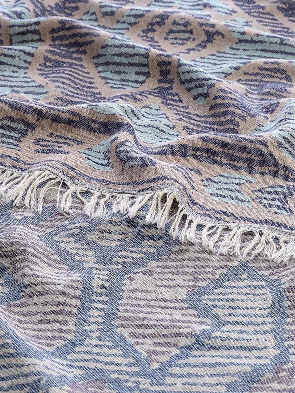 Полотенце пештемаль для пляжа, сауны, бани Begonville DREAMSCAPE CENTURY хлопок navy 90х175, фото, фотография