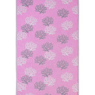 Полотенце пештемаль для пляжа, сауны, бани Begonville DREAMSCAPE REEF хлопок pink