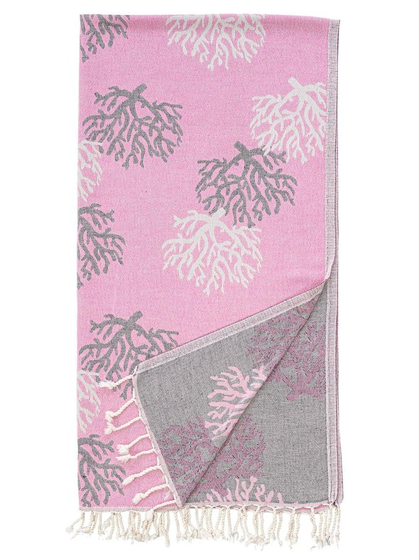 Полотенце пештемаль для пляжа, сауны, бани Begonville DREAMSCAPE REEF хлопок pink 90х175, фото, фотография