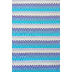 Полотенце пештемаль для пляжа, сауны, бани Begonville DREAMSCAPE ZIGZAG хлопок blues 90х175, фото, фотография