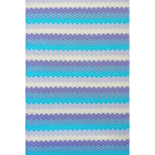 Полотенце пештемаль для пляжа, сауны, бани Begonville DREAMSCAPE ZIGZAG хлопок blues 90х175