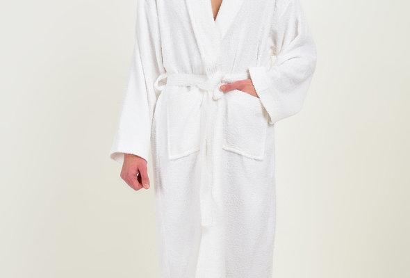 Халат Karna FERAT хлопковая махра белый L, фото, фотография