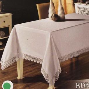 Скатерть прямоугольная Efor KDK жаккард кремовый 160х300