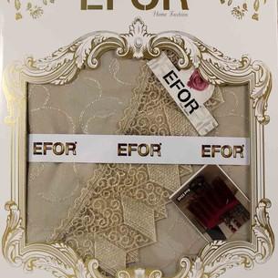 Скатерть круглая Efor KDK жаккард капучино D=160
