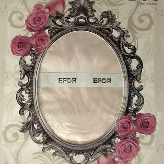 Скатерть прямоугольная Efor ALDEN жаккард розовый