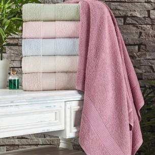Полотенце для ванной Tivolyo Home PAMUK HAVLU хлопковая махра розовый 75х150