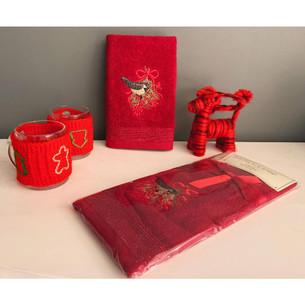 Полотенце-салфетка La Villa KARDANADAM хлопковая махра бордовый 45х70