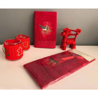 Полотенце-салфетка La Villa KARDANADAM хлопковая махра бордовый