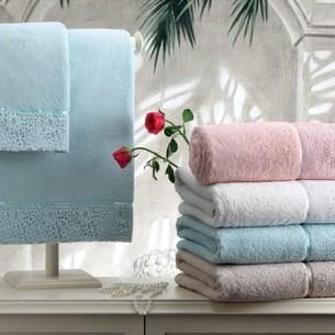 Полотенце для ванной Tivolyo Home FORZA хлопковая махра кремовый 100х150