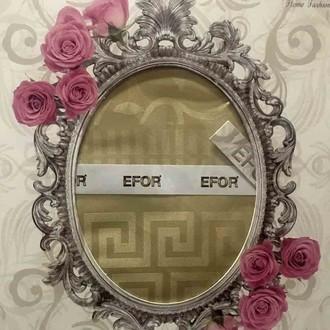 Скатерть прямоугольная Efor IVY жаккард кофейный