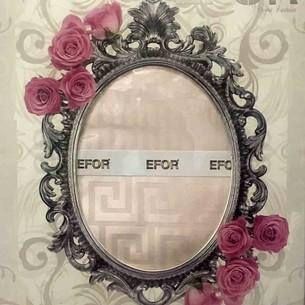 Скатерть прямоугольная Efor IVY жаккард розовый 160х300