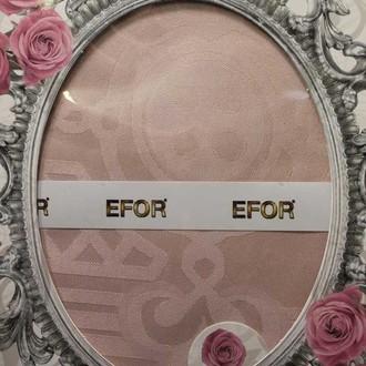 Скатерть прямоугольная Efor IVY жаккард сухая роза