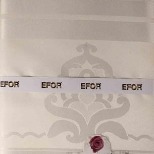 Скатерть прямоугольная Efor JAGLER жаккард кремовый 160х220