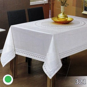 Скатерть прямоугольная Efor JASMIN жаккард белый 160х220