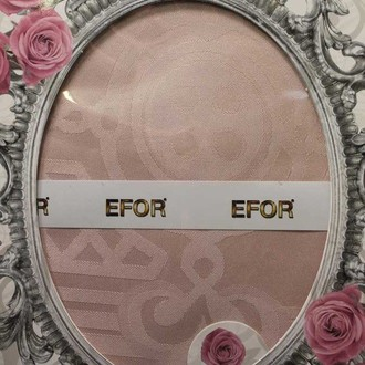 Скатерть прямоугольная Efor JASMIN жаккард сухая роза