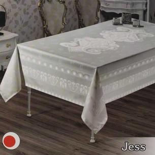Скатерть прямоугольная Efor JESS жаккард белый 160х220