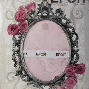 Скатерть прямоугольная Efor JESS жаккард розовый 160х300