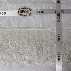 Скатерть прямоугольная Efor MELISA жаккард кремовый 160х220