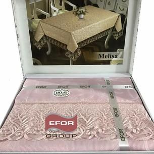 Скатерть прямоугольная Efor MELISA жаккард пудра 160х300