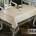 Скатерть прямоугольная Efor MELISA жаккард кофейный 160х260, фото, фотография