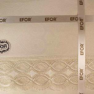 Скатерть прямоугольная Efor MILA жаккард капучино 160х220