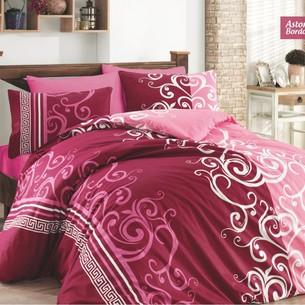 Постельное белье Ecosse RANFORCE ASTORIAS хлопковый ранфорс бордовый 1,5 спальный