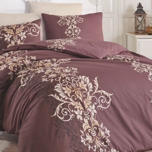 Постельное белье Ecosse RANFORCE NERON хлопковый ранфорс коричневый 1,5 спальный