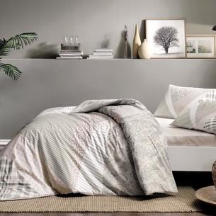 Постельное белье TAC HAPPY DAYS SAYLOR хлопковый ранфорс серый 1,5 спальный