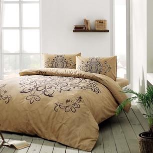 Постельное белье TAC HAPPY DAYS BLANDA хлопковый ранфорс золотистый 1,5 спальный