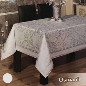 Скатерть прямоугольная Efor OSMANLI жаккард белый 160х220