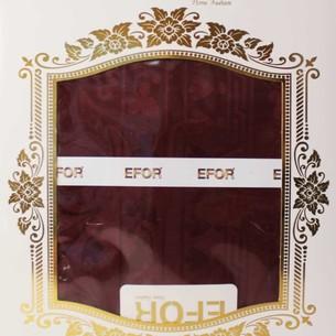 Скатерть прямоугольная Efor POLY жаккард бордовый 160х300