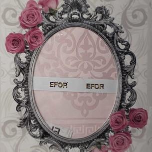 Скатерть прямоугольная Efor SAFIR жаккард розовый 160х220