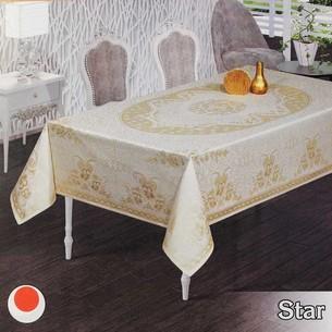 Скатерть прямоугольная Efor STAR жаккард золотисто-бежевый 160х300