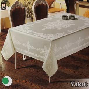 Скатерть прямоугольная Efor YAKUT жаккард кремовый 160х220