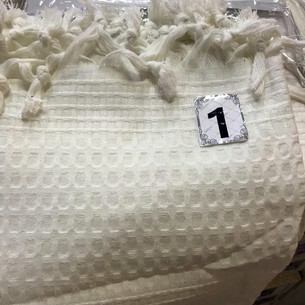 Вафельная простыня-покрывало для укрывания (пике) Saheser хлопок белый 220х240
