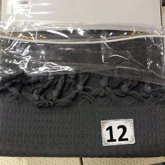 Вафельная простыня-покрывало для укрывания (пике) Saheser хлопок чёрный