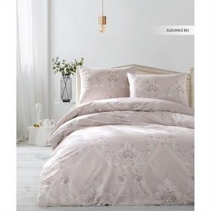Постельное белье Ecosse RANFORCE ELEGANCE хлопковый ранфорс бежевый 1,5 спальный