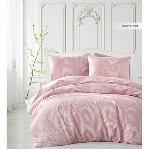 Постельное белье Ecosse RANFORCE GLORY хлопковый ранфорс розовый семейный