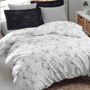 Постельное белье Ecosse SATIN BLANCA хлопковый сатин белый 1,5 спальный