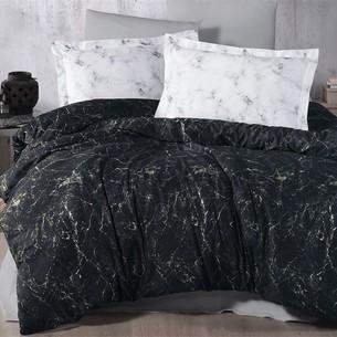 Постельное белье Ecosse SATIN BLANCA хлопковый сатин чёрный 1,5 спальный