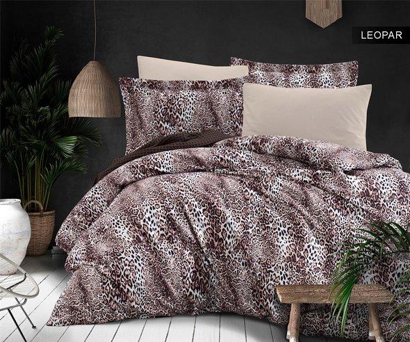 Постельное белье Ecosse SATIN LEOPAR хлопковый сатин 1,5 спальный, фото, фотография